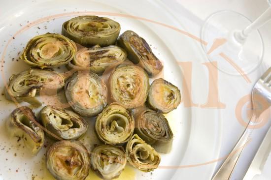Alcachofas a la plancha con vinagreta
