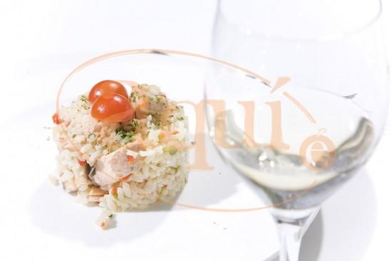 Arroz con salmón
