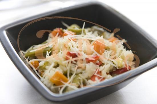 Arroz con verduras gratinadas
