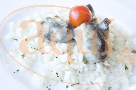 Blanqueta de ternera con arroz