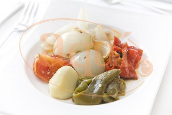 Braseado de verduras con patata y aliño de módena