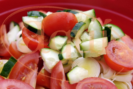 Ensalada de tomate y calabacín
