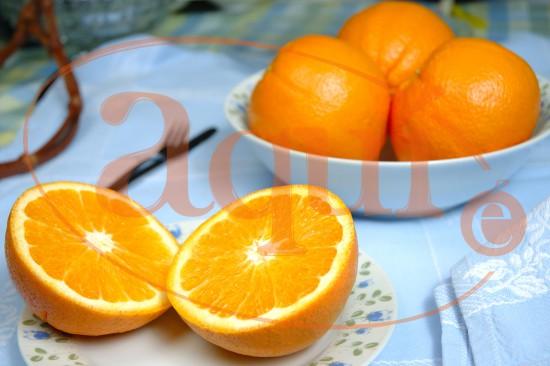 Naranja con azúcar