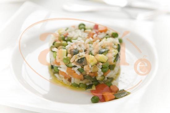 Salteado de verduras con arroz