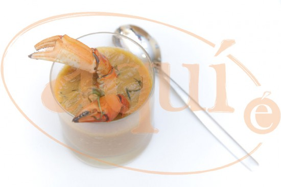 Sopa de cangrejo de mar